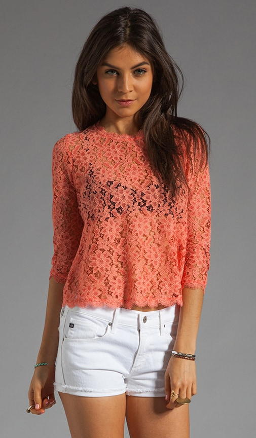 Deidra Raised Lace Blouse