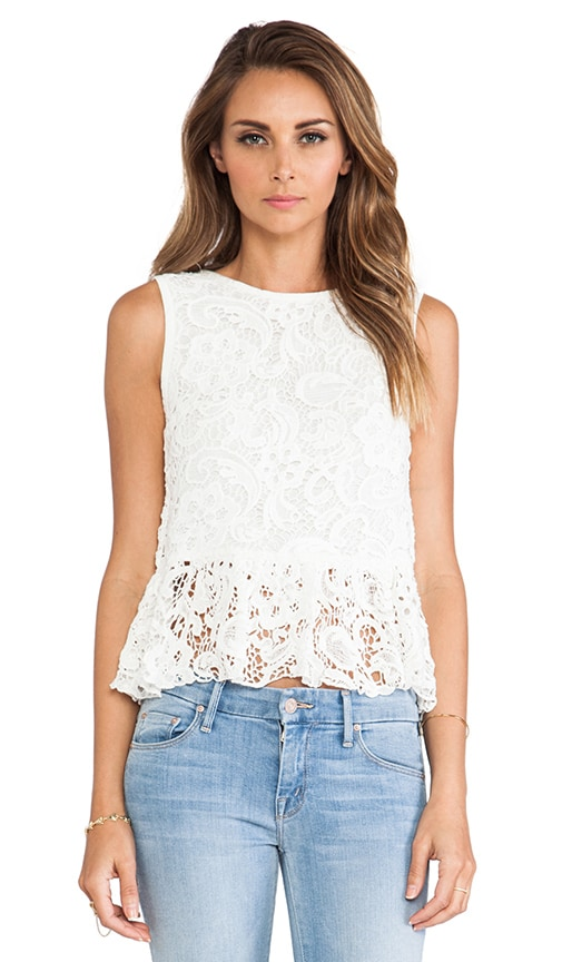 Anja Scroll Lace Blouse