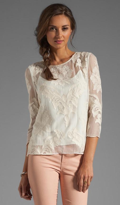 Deidra Victorian Embroidery Blouse