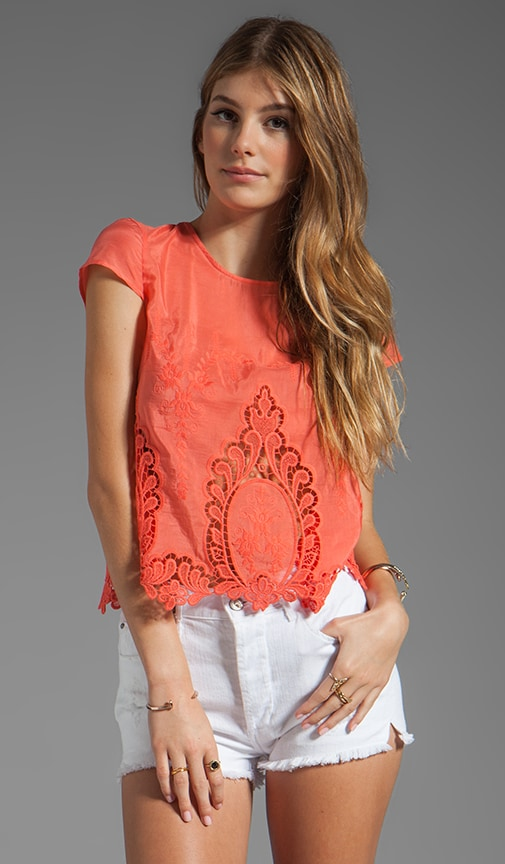 Story Petticoat Embroider Blouse