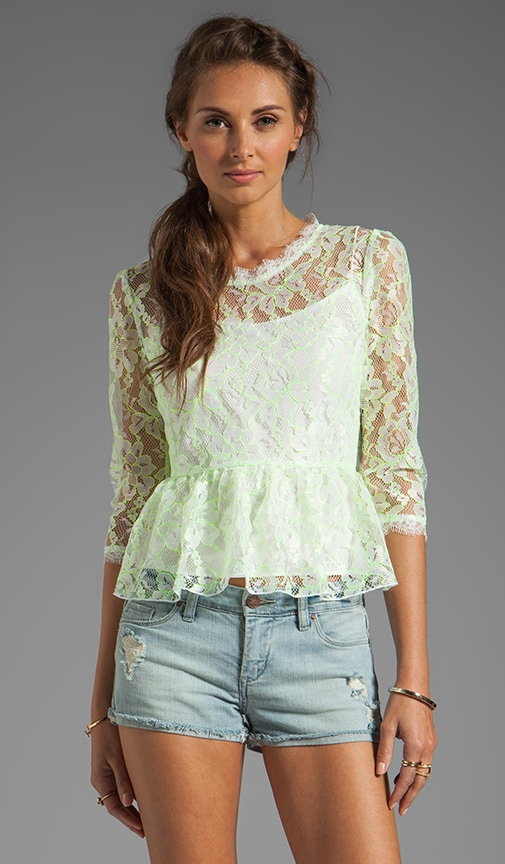 Ceri Lace Peplum Top