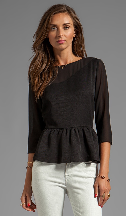 Sisley Viscose Faille Top