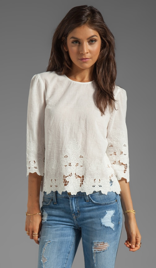Deidra Sunflower Lace Top