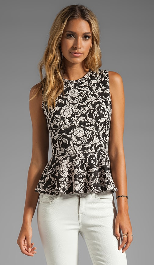 Tiffany Scroll Ponte Top