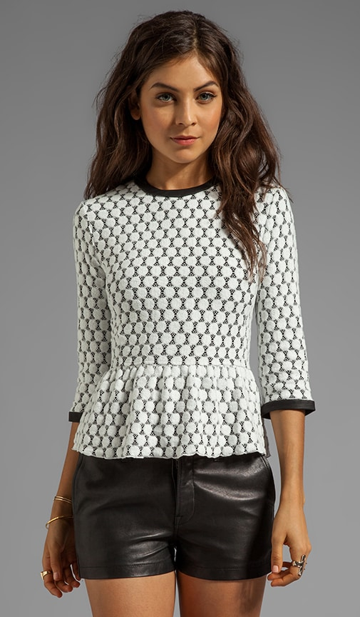 Ceri Dot Zebra Lace Top