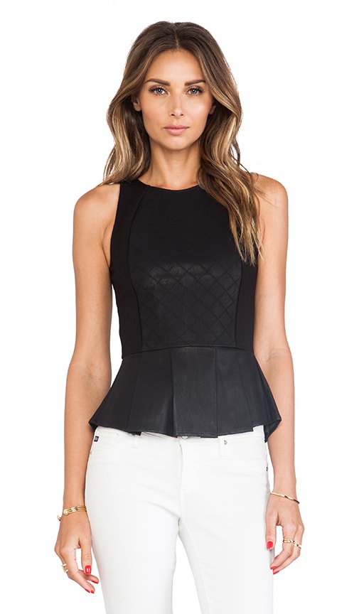 Gafa Faux Leather Top