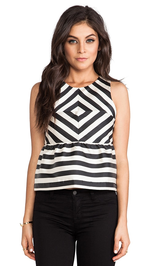 Lysia Silky Stripes Top