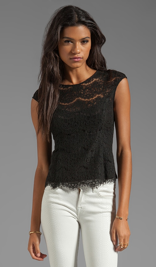 Galina Eyelash Lace Top
