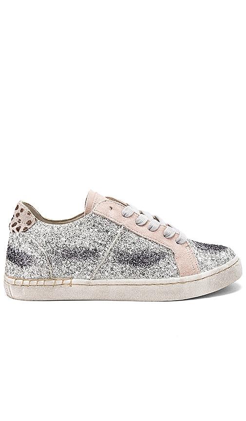 Dolce Vita Z Glitter Sneaker in Metallic Silver