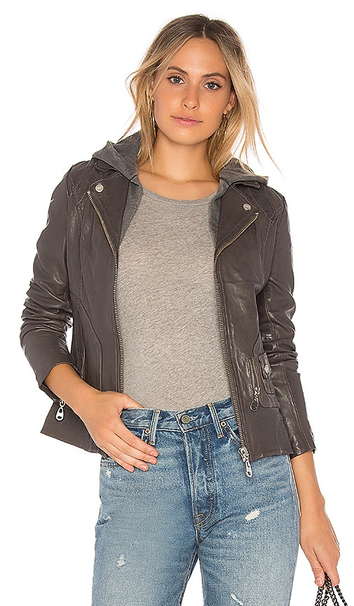 DOMA Vintage Zip Out Hood Jacket in Gray