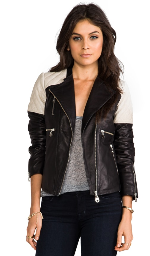 Quilted Insert Asymmetrical Jacket