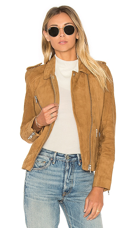 DOMA Chest Pocket Biker Jacket in Tan