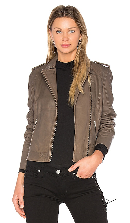 DOMA Biker Jacket in Taupe