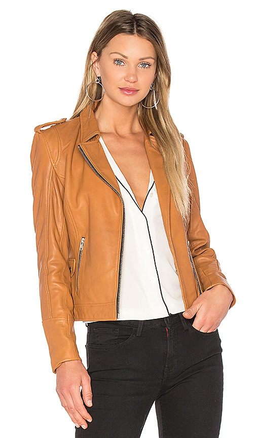 DOMA Biker Jacket in Cognac