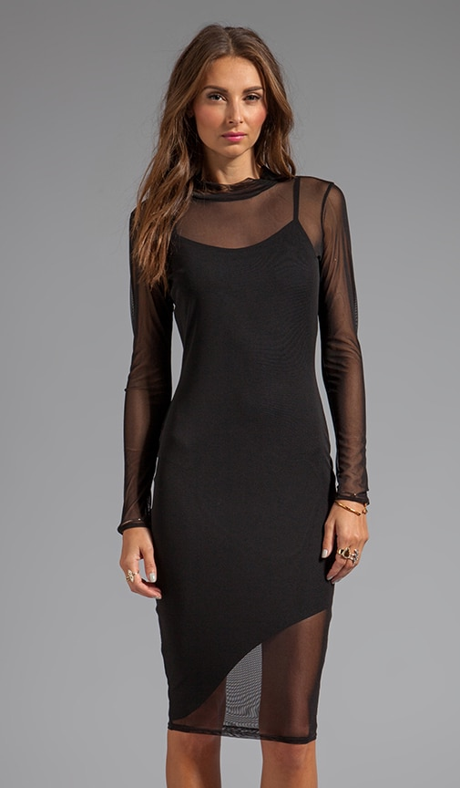 Mid Length Mesh Dress