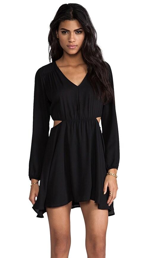 Double Side Cut Out Flounce Dress