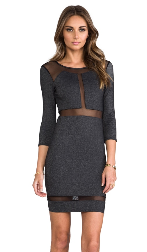 Paneled Mesh Insert Dress