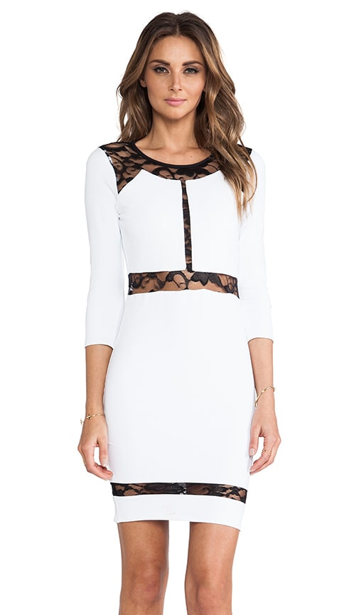 Paneled Lace Dress