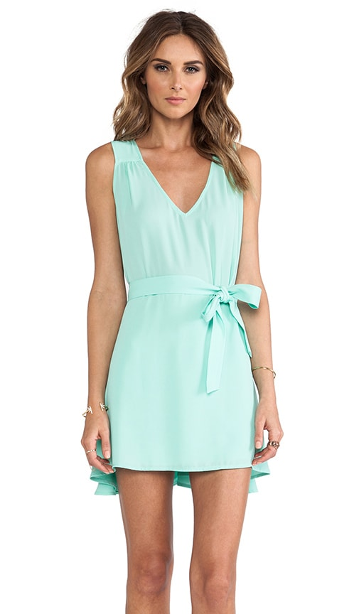 Side Tie Flounce Dress