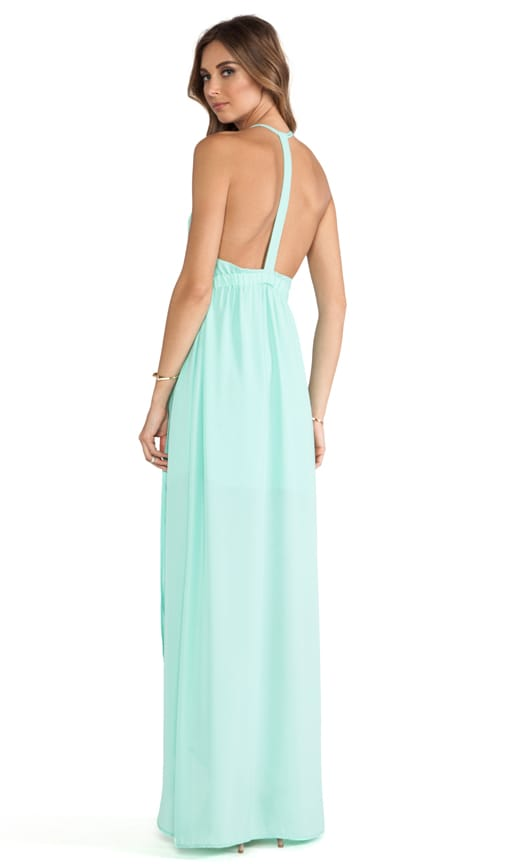 Donna Mizani Tulip Gown in Mint Cream | REVOLVE