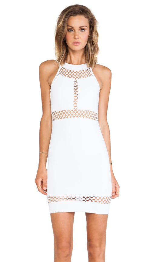 Paneled Halter Dress