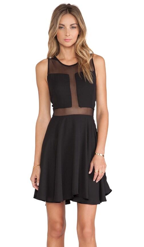 Paneled Flounce Dress