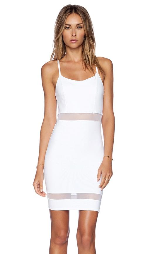 Donna Mizani Mini Cami Dress in White