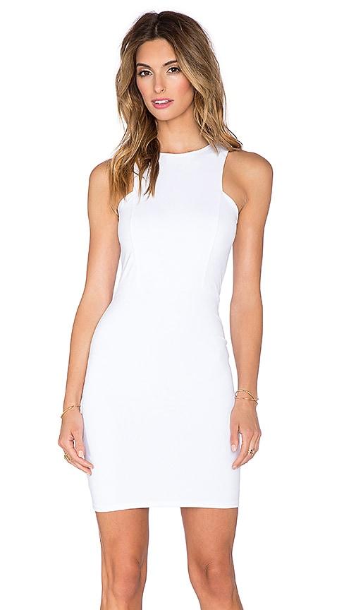 Donna Mizani Front Panel Mini Dress in White