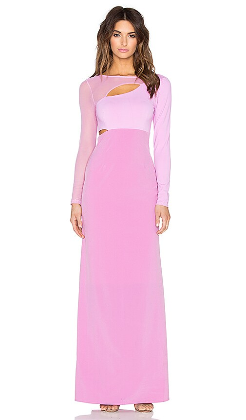 Donna Mizani Cut Out Maxi Dress in Pink