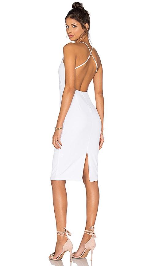 Donna Mizani Square Neck Midi Dress in White