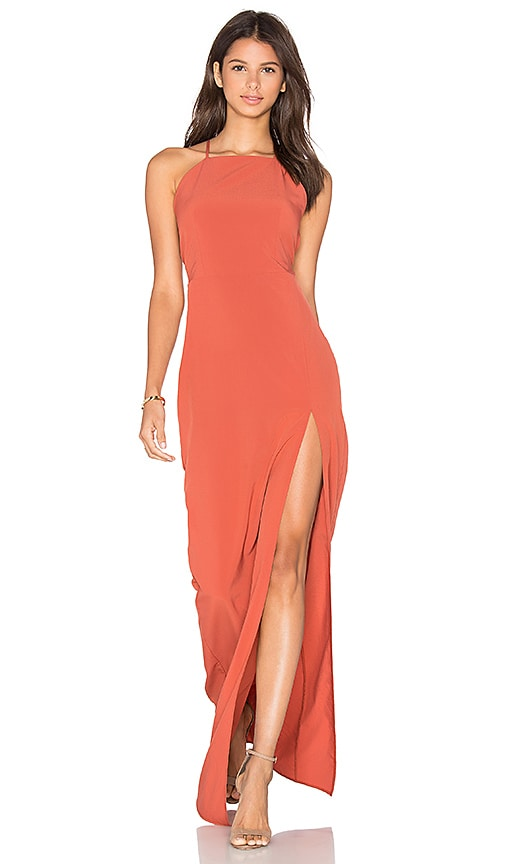 Square Neck Maxi Dress in Rust Donna Mizani Low Price Sale Online Comfortable Cheap Prices Discount Low Price Buy Cheap Comfortable bFxqbrJ