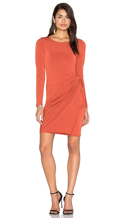Donna Mizani Knot Dress in Burnt Orange