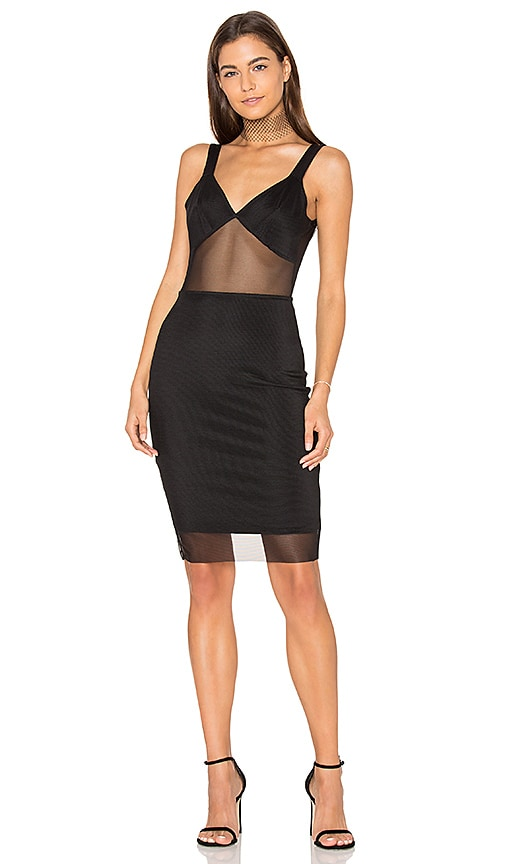 Donna Mizani V Back Cami Dress in Black