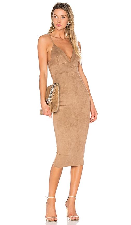 Donna Mizani Mara Midi Dress in Brown