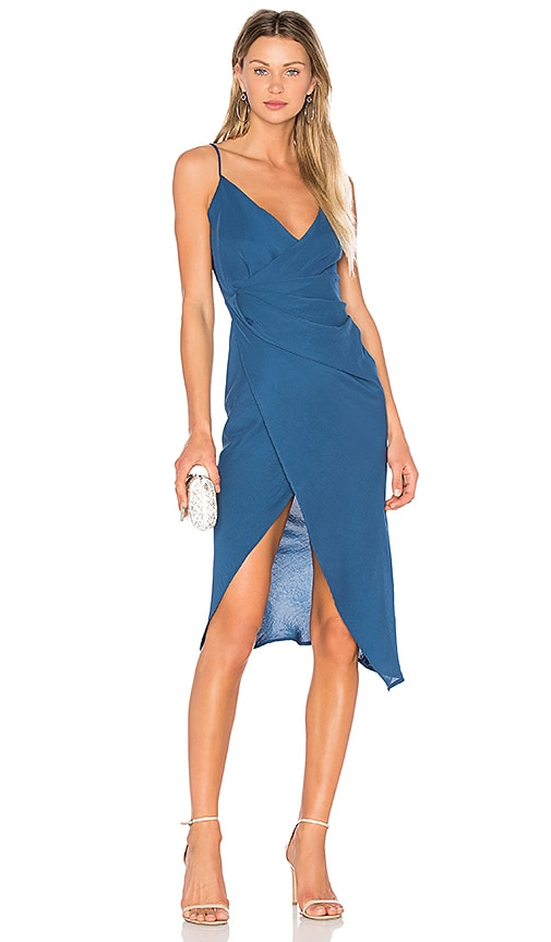 Donna Mizani Leona Hi Low Dress in Blue