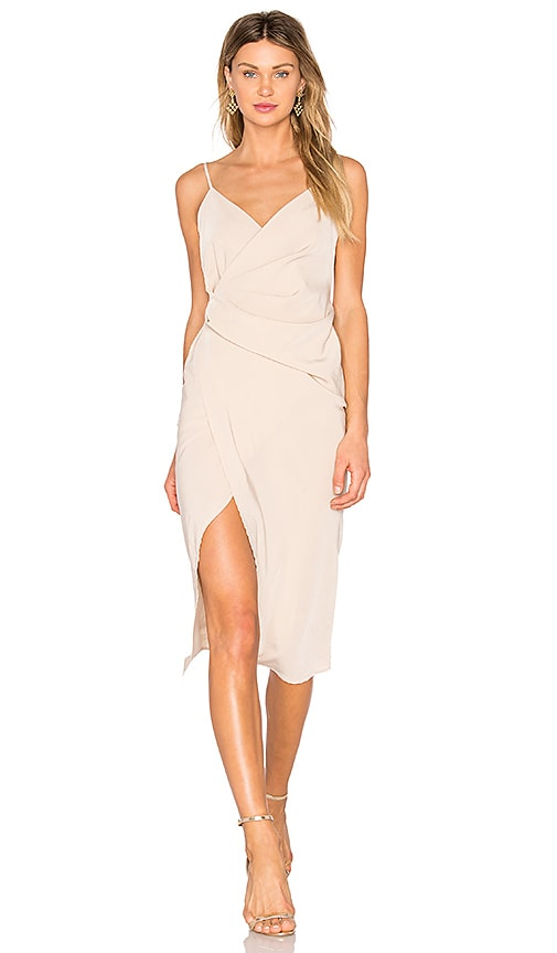 Donna Mizani Leona Hi Low Dress in Beige