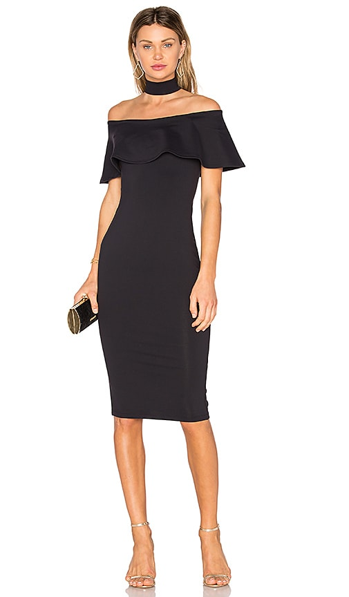 Donna Mizani Mila Midi Dress in Black