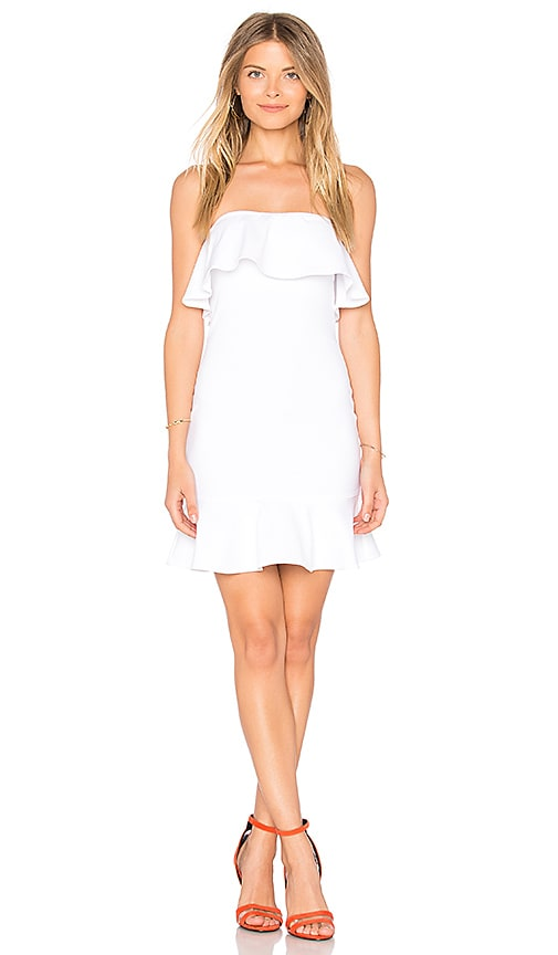 Donna Mizani Clover Mini Dress in White