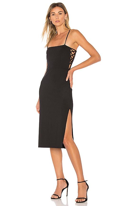 Donna Mizani Daphne Midi Dress in Black | REVOLVE
