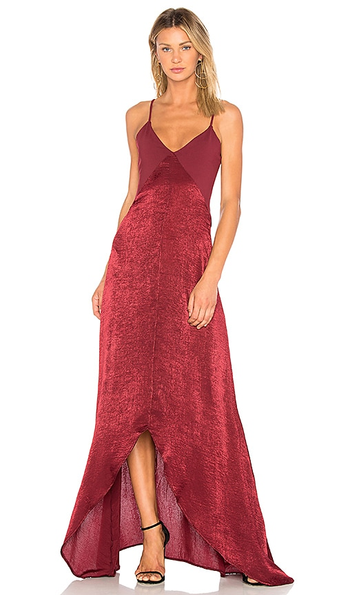 Donna Mizani Luxe Maxi Dress in Wine