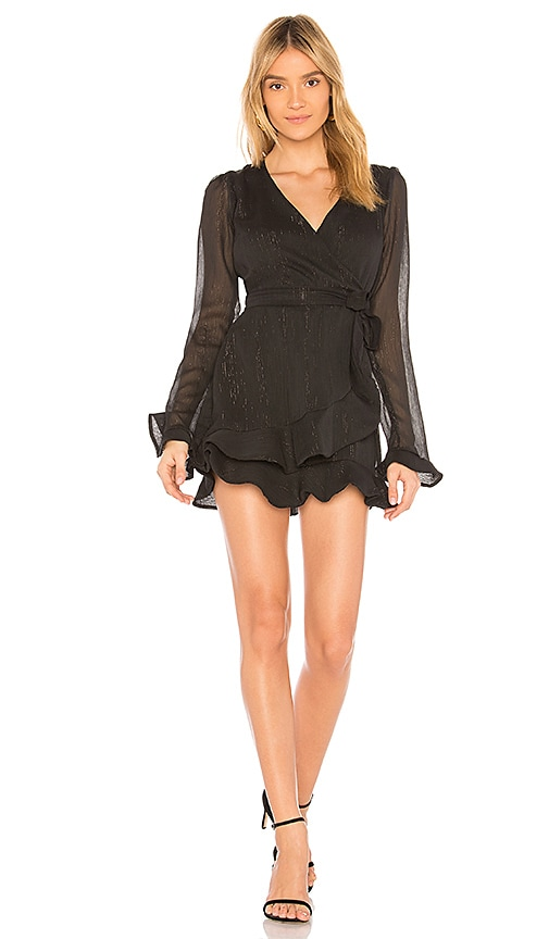 Donna Mizani Eliza Wrap Dress in Black