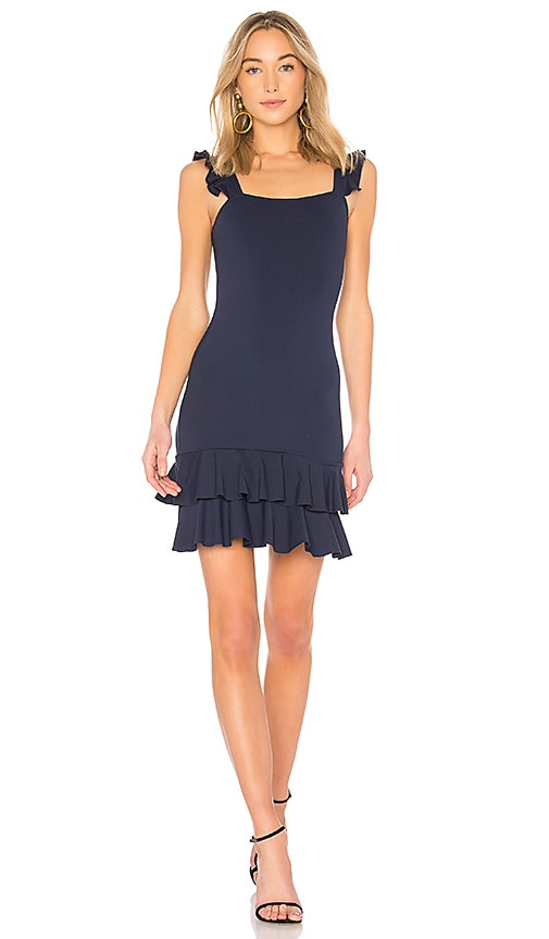 Donna Mizani Lily Mini Dress in Blue