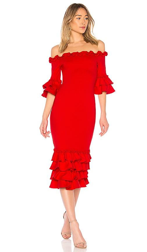 Donna Mizani x REVOLVE Pishi Midi Dress in Red