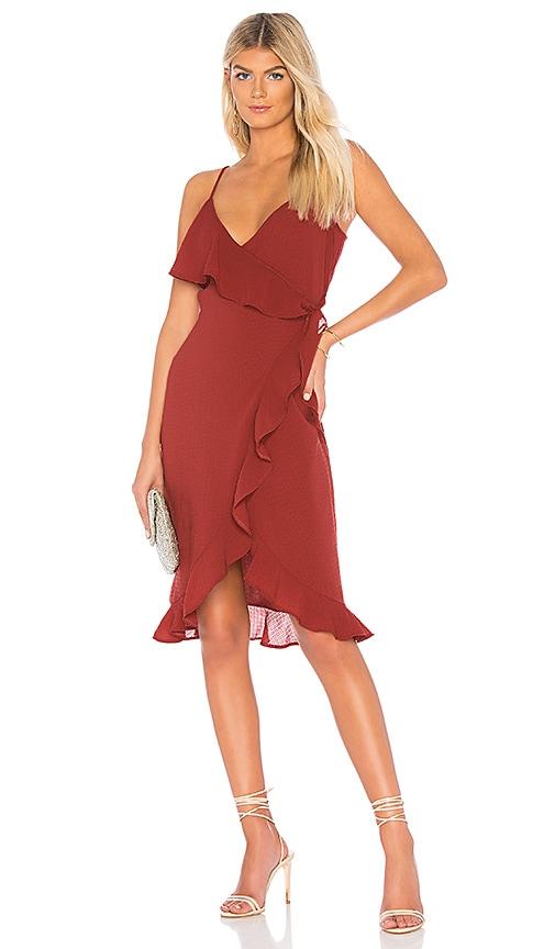 Donna Mizani Kate Midi Dress in Burgundy