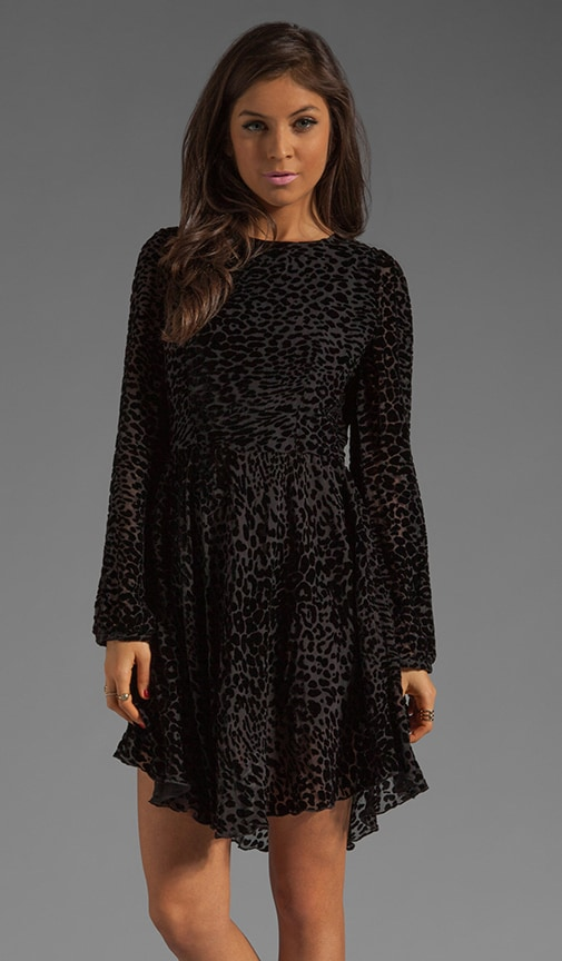 Leopard Darling Sleeve Skate Dress