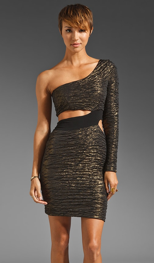 Foiled Cut Out Dress