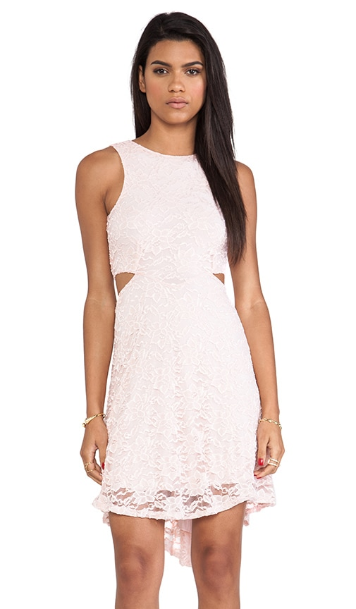 Passion Lace Diamond Double Side Cut Out Dress