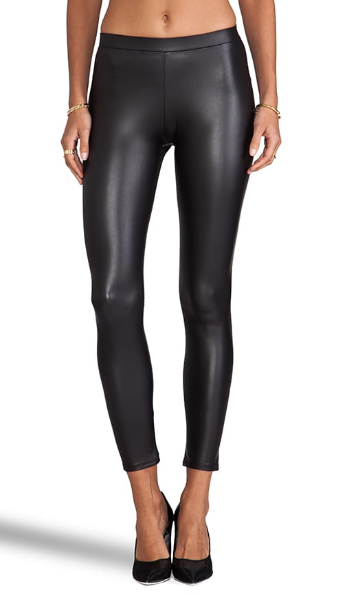 Black Leatherette Legging