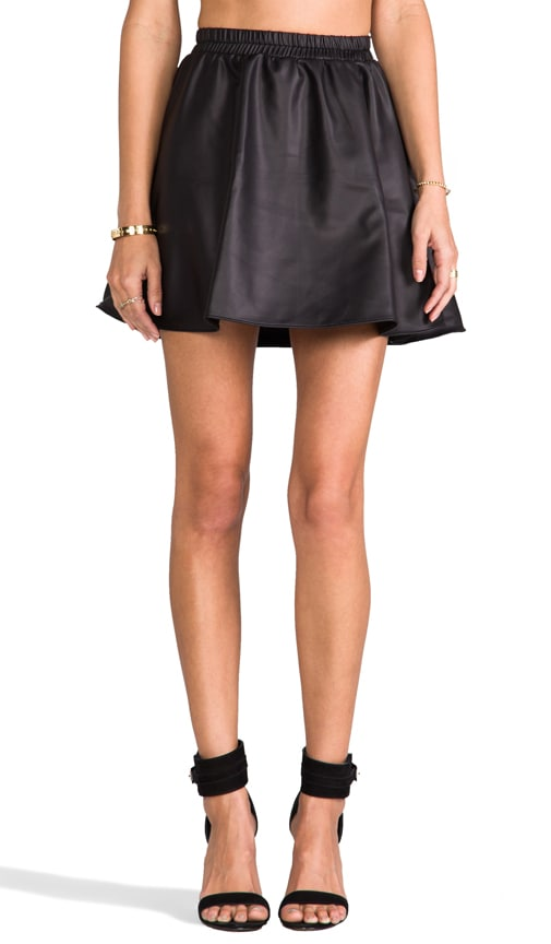 Leatherette Circle Skirt