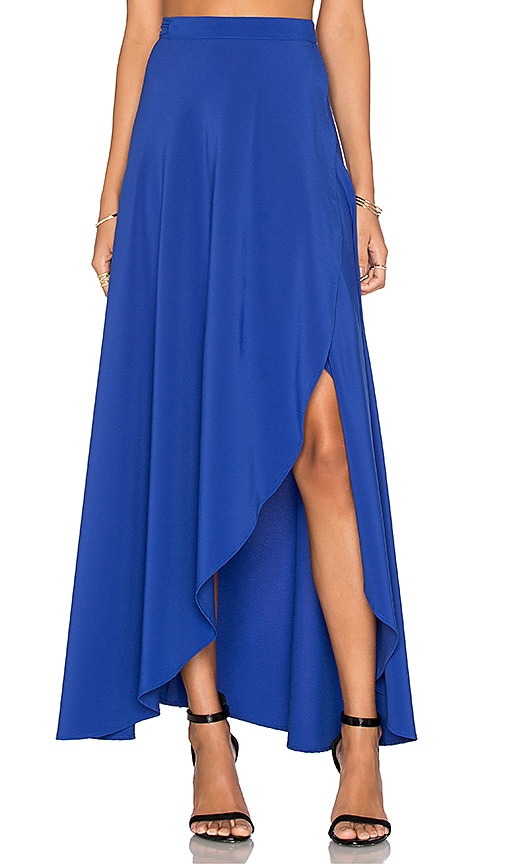 Donna Mizani Wrap Skirt in Blue